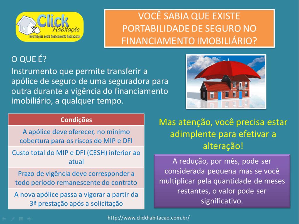 Portabilidade de seguro habitacional